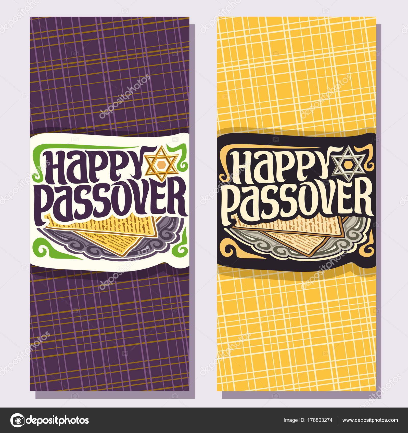 Vector vertical greeting cards passover holiday decorative vector vertical greeting cards passover holiday decorative handwritten font text stock vector m4hsunfo Image collections