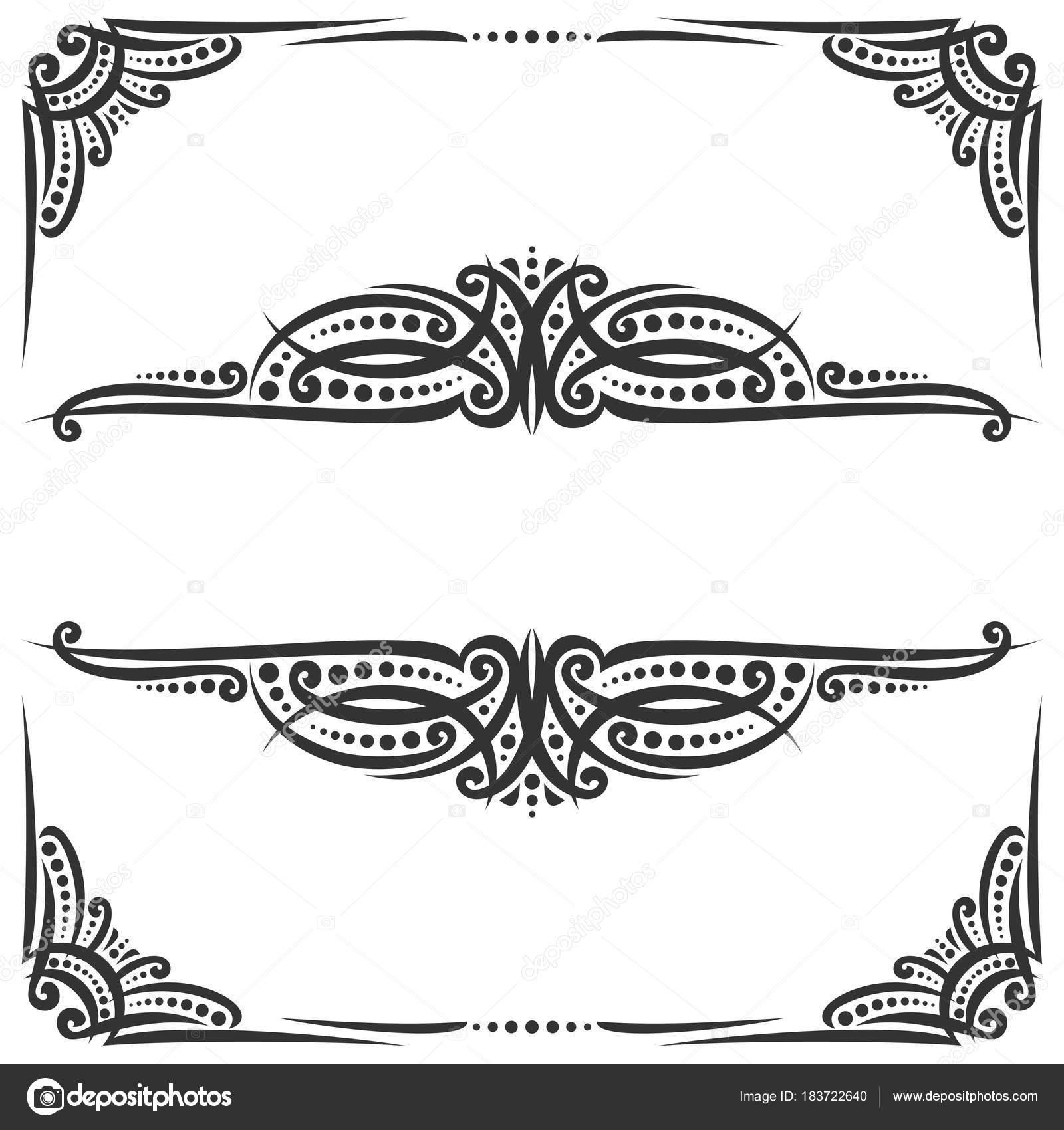 Vector decorative black frames white ornate decoration flourishes vector decorative black frames white ornate decoration flourishes wedding invitation stock vector stopboris Gallery