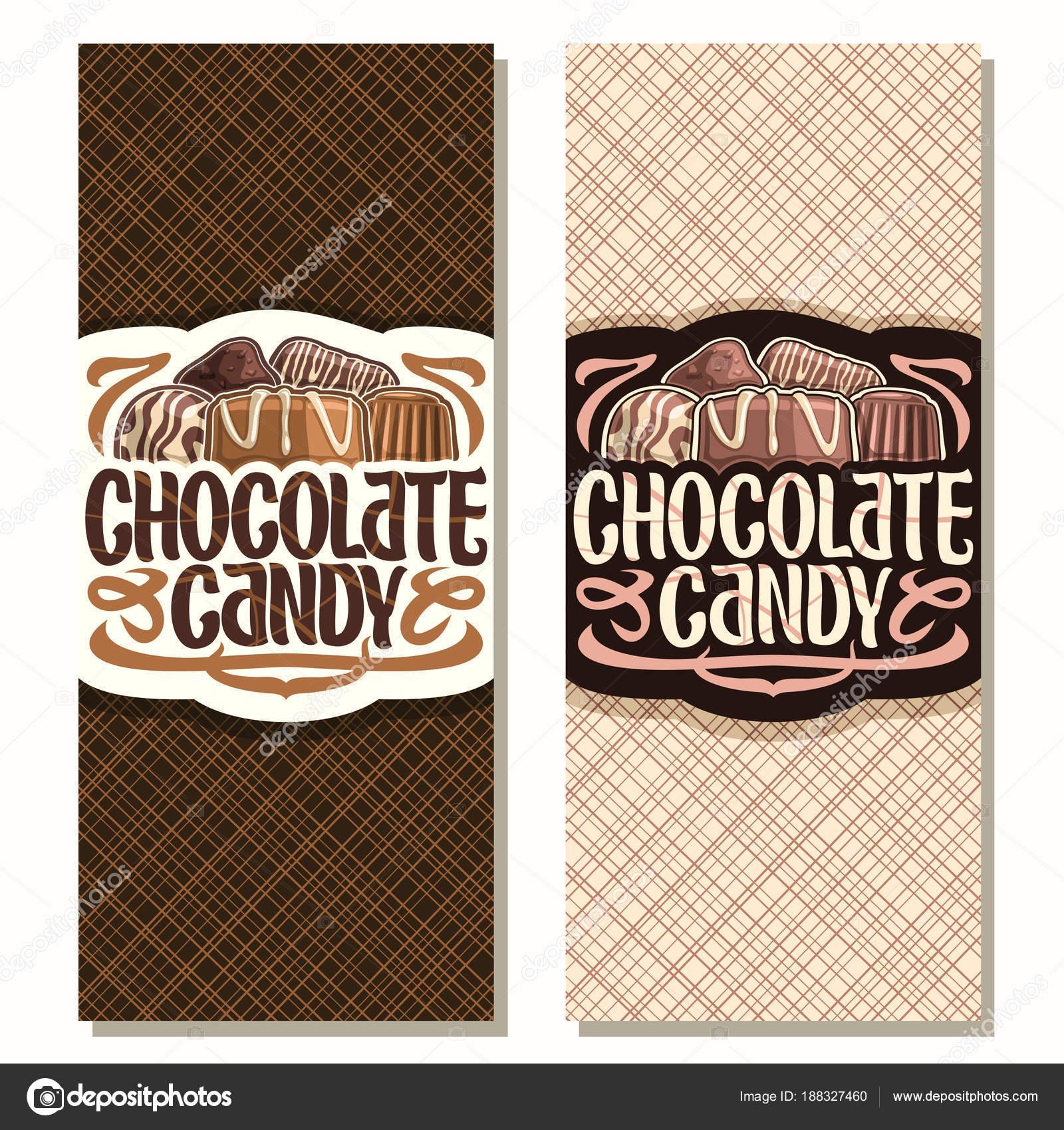 Banners Verticales Vector Para Caramelo Chocolate Montón Suizos ...