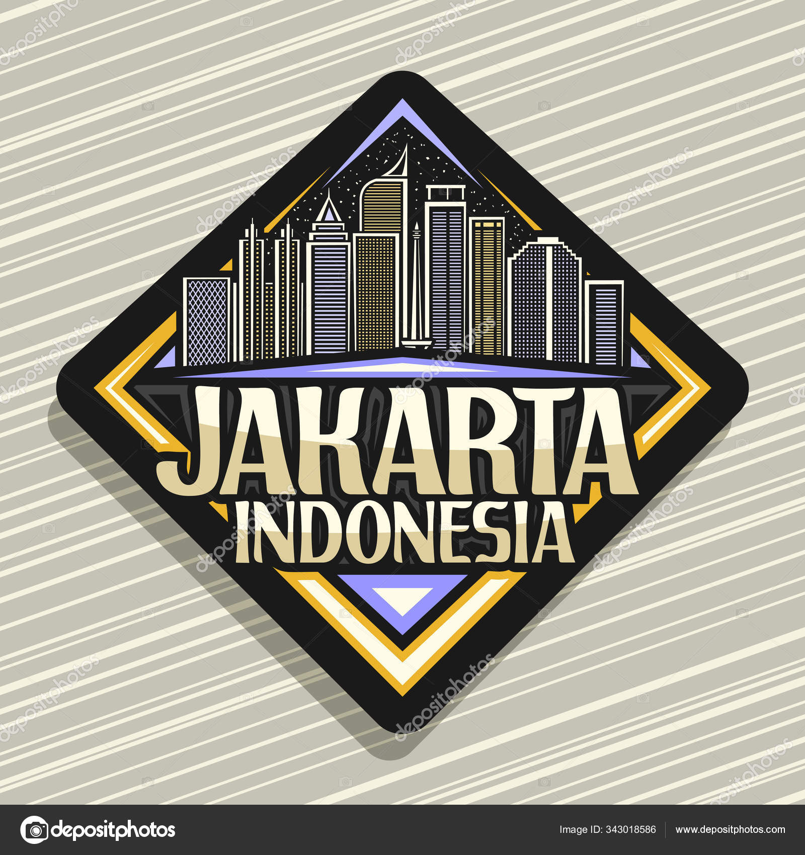 Jakarta Night Stock Vectors Royalty Free Jakarta Night Illustrations Depositphotos