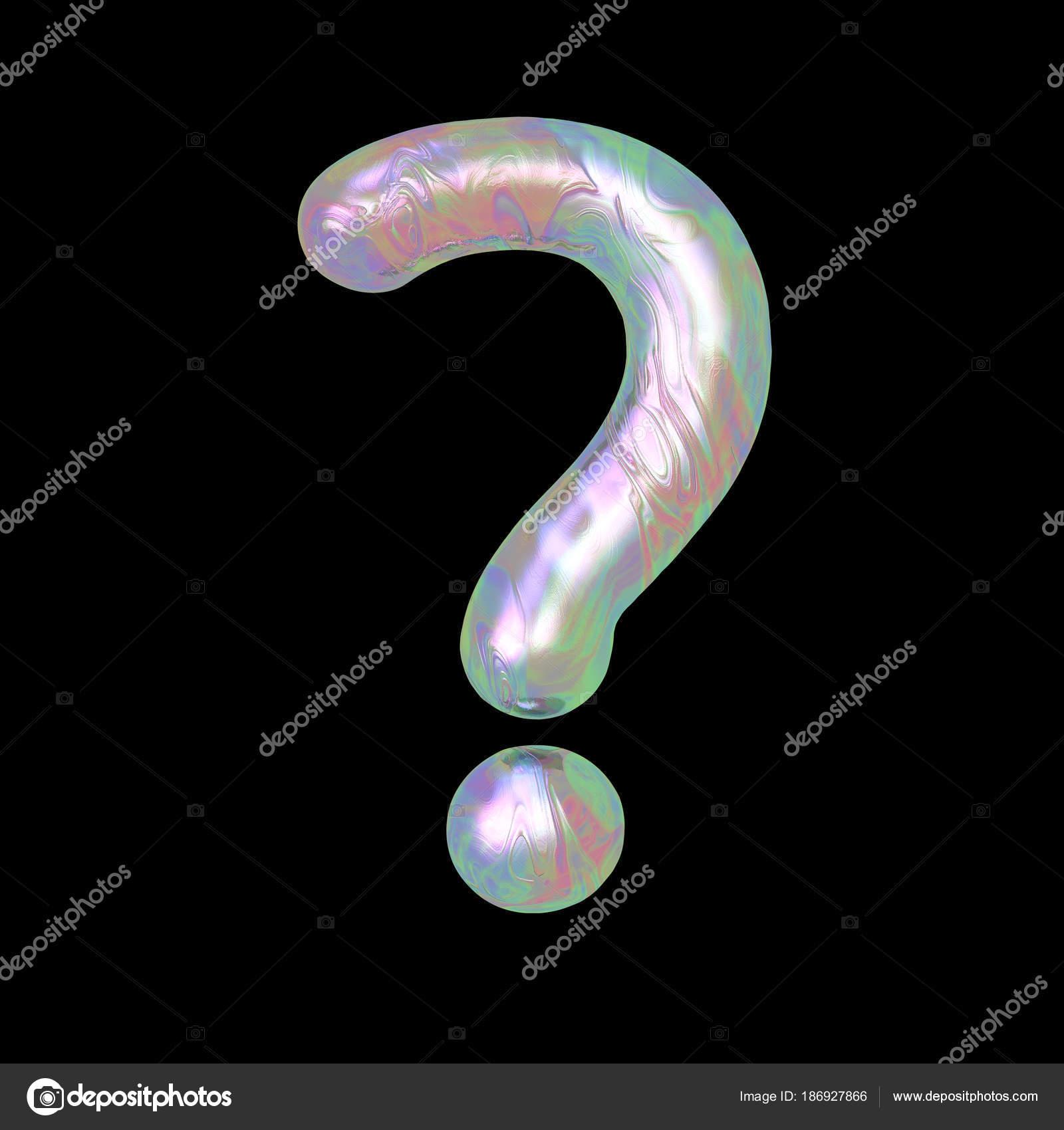 Marmo Moderno Liquido Olografico Rendering Lettera Simbolo Punto