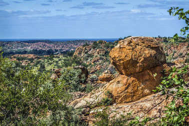 Boulder scenery in Mapungubwe National park, South Africa