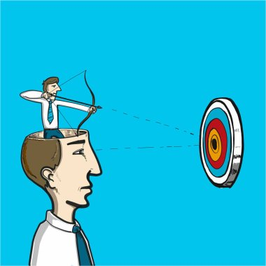 focus on target  illustration
