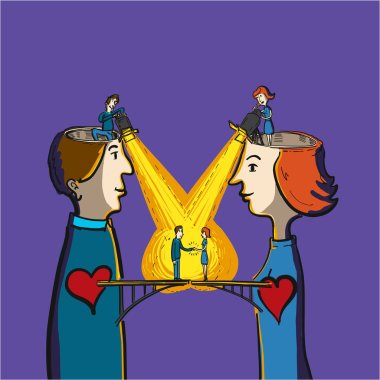 bridge between heart of man and woman