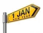 Šťastný nový rok 2017 dopravní značka