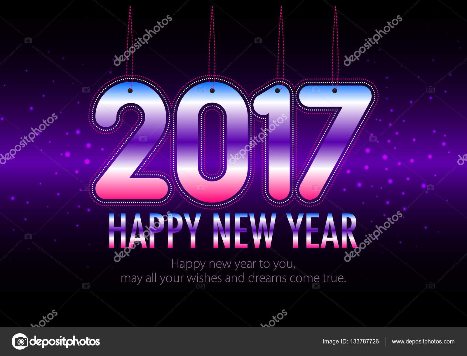 Happy New Year 2017 Bunte Hintergrundbilder Stockvektor