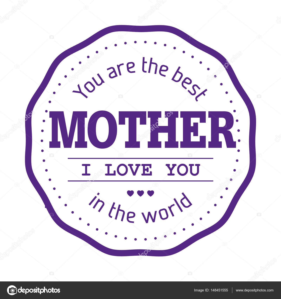 Du Bist Die Beste Mutter Der Welt Stockvektor Dolphfynlow 148451555