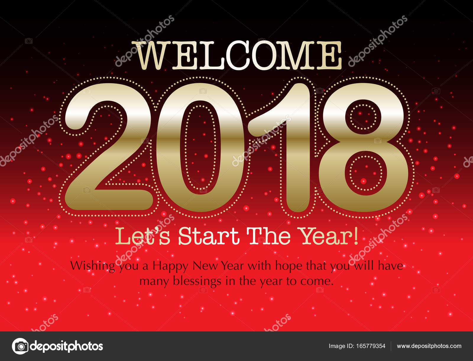 happy new year 2018 wish you all the best as always in this coming new year vector by dolphfynlow