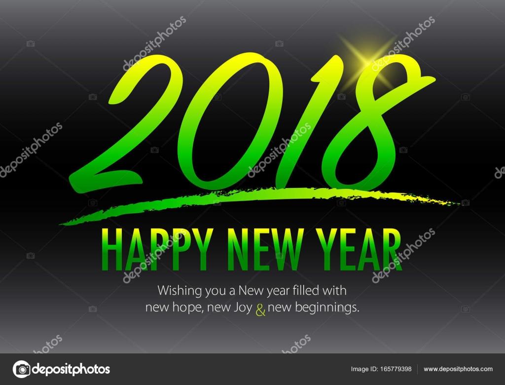 Glückliches neues Jahr 2018 — Stockvektor © dolphfynlow #165779398