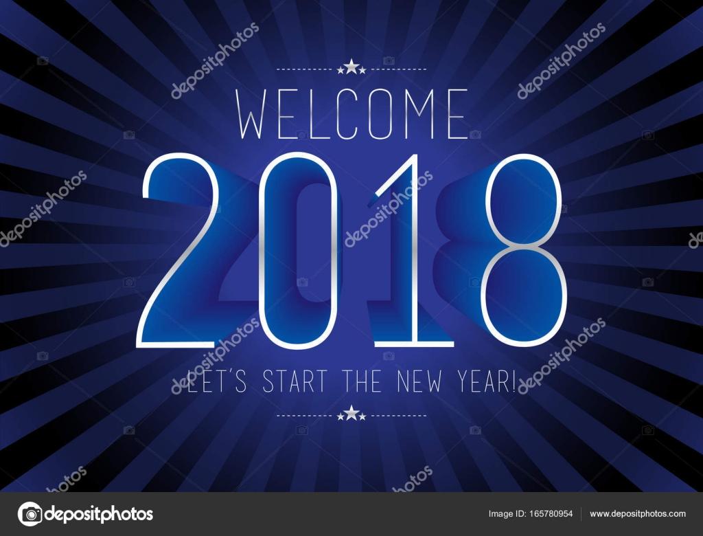 Glückliches neues Jahr 2018 — Stockvektor © dolphfynlow #165780954