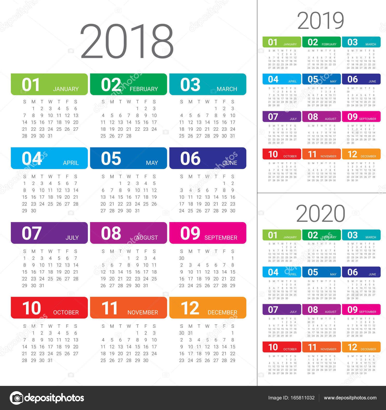 Calendarios Hasta 2018