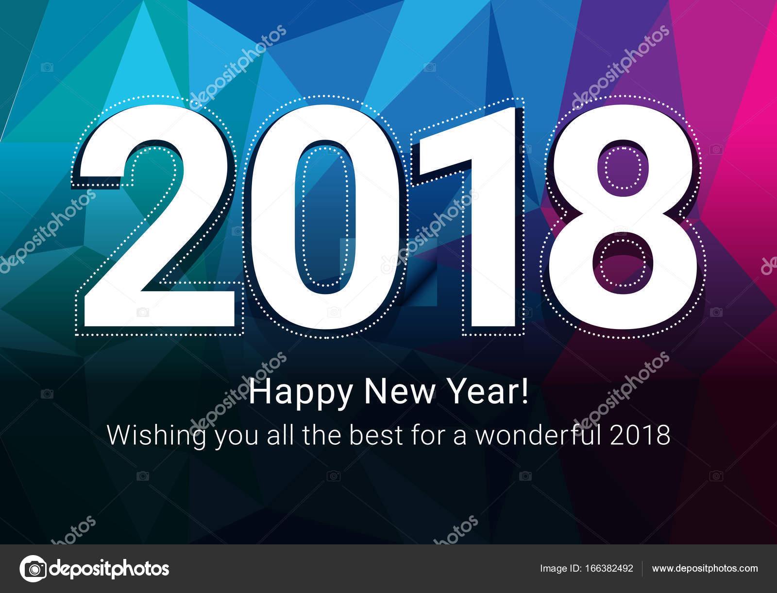 Glückliches neues Jahr 2018 — Stockvektor © dolphfynlow #166382492