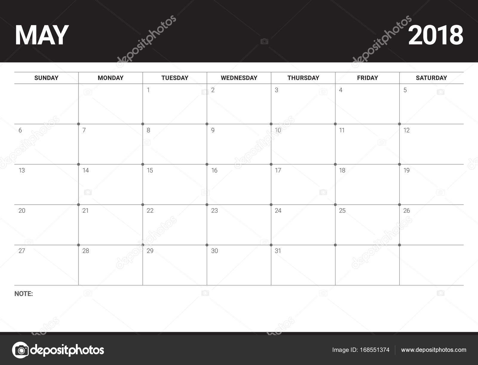 Calendar Planner Vector : May calendar planner vector illustration — stock