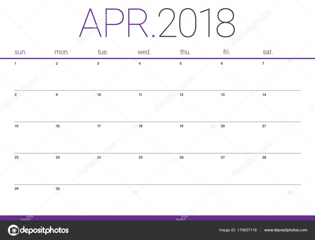 April Calendar Illustration : April calendar planner vector illustration — stock