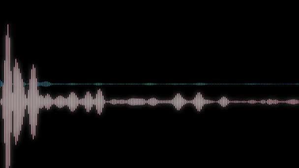 Animation - computergenerierte Equalizer-Balken im Wellenform-Audio-Spektrum