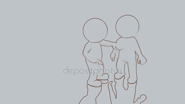 jak dva 3d kreslené postavičky, aby konverzaci