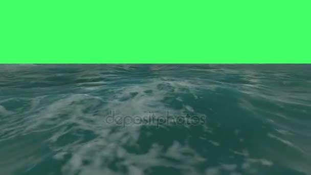 Přelet nad vodní hladiny na zelenou obrazovku