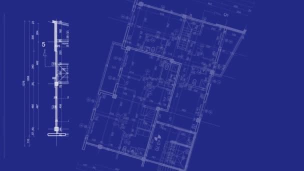 abstrakter architektonischer Hintergrund: Bauplan mit Skizze der Stadt
