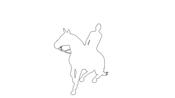 man on a horse galloping