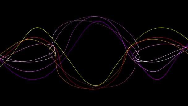 Ripple ritmo onda linea sfondo, sullo sfondo di equalizzatore vibrazione sonora, tecnologia di energia del segnale radar scienza