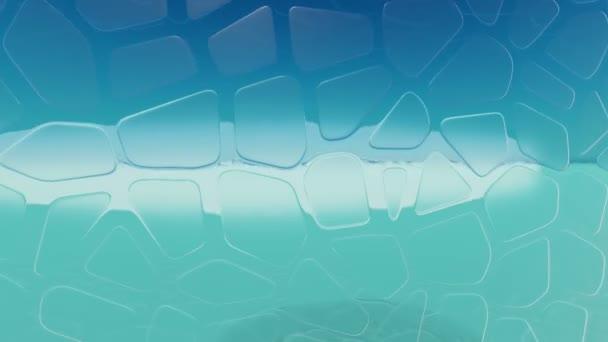 Hladké sklo interiér. 3D vykreslování. 3D animace