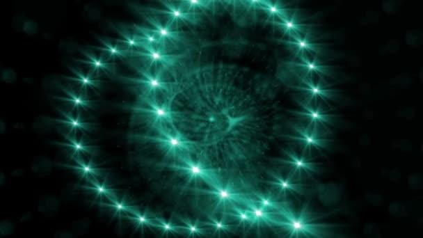 Mnozí světlo bliká efekt černém pozadí