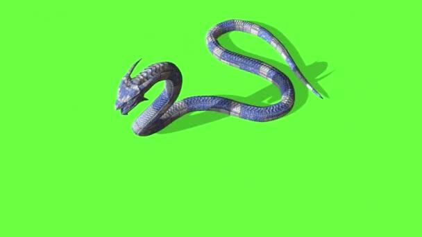 animace útoku hada - Python Green Screen