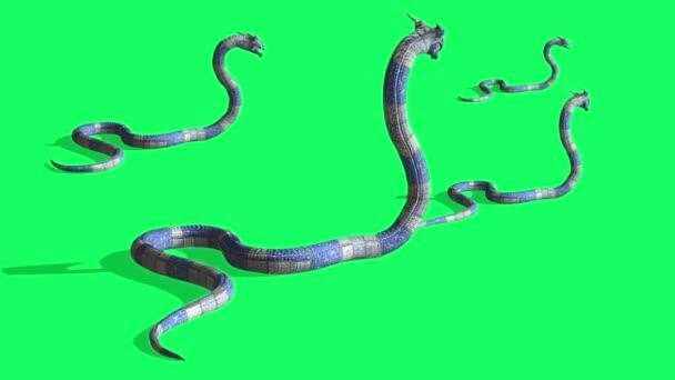 animáció kígyó támadás - Python Green Screen