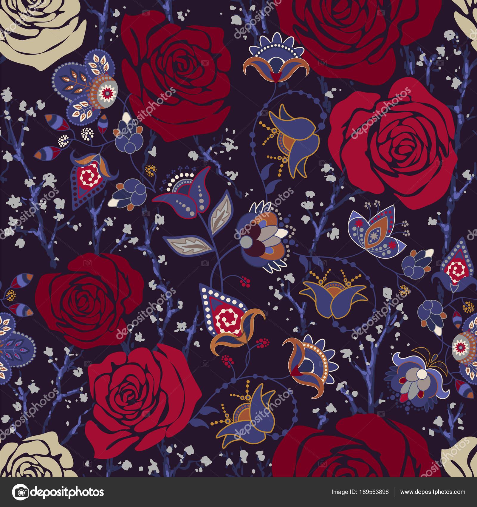 Fondo Fondos Vintage Iphone Patron De Colores Con Rosas Flores