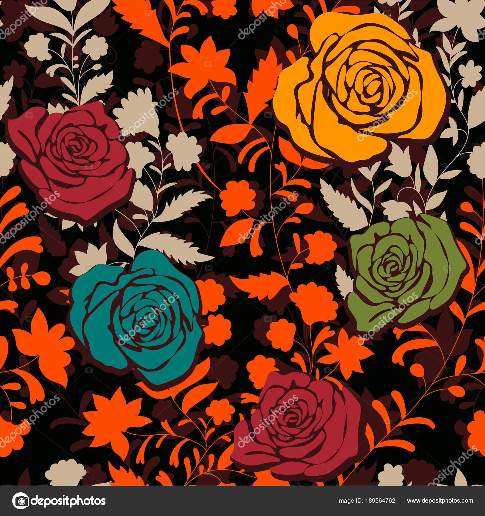 Fondo Fondos Vintage Para Iphone Patron De Colores Con Rosas