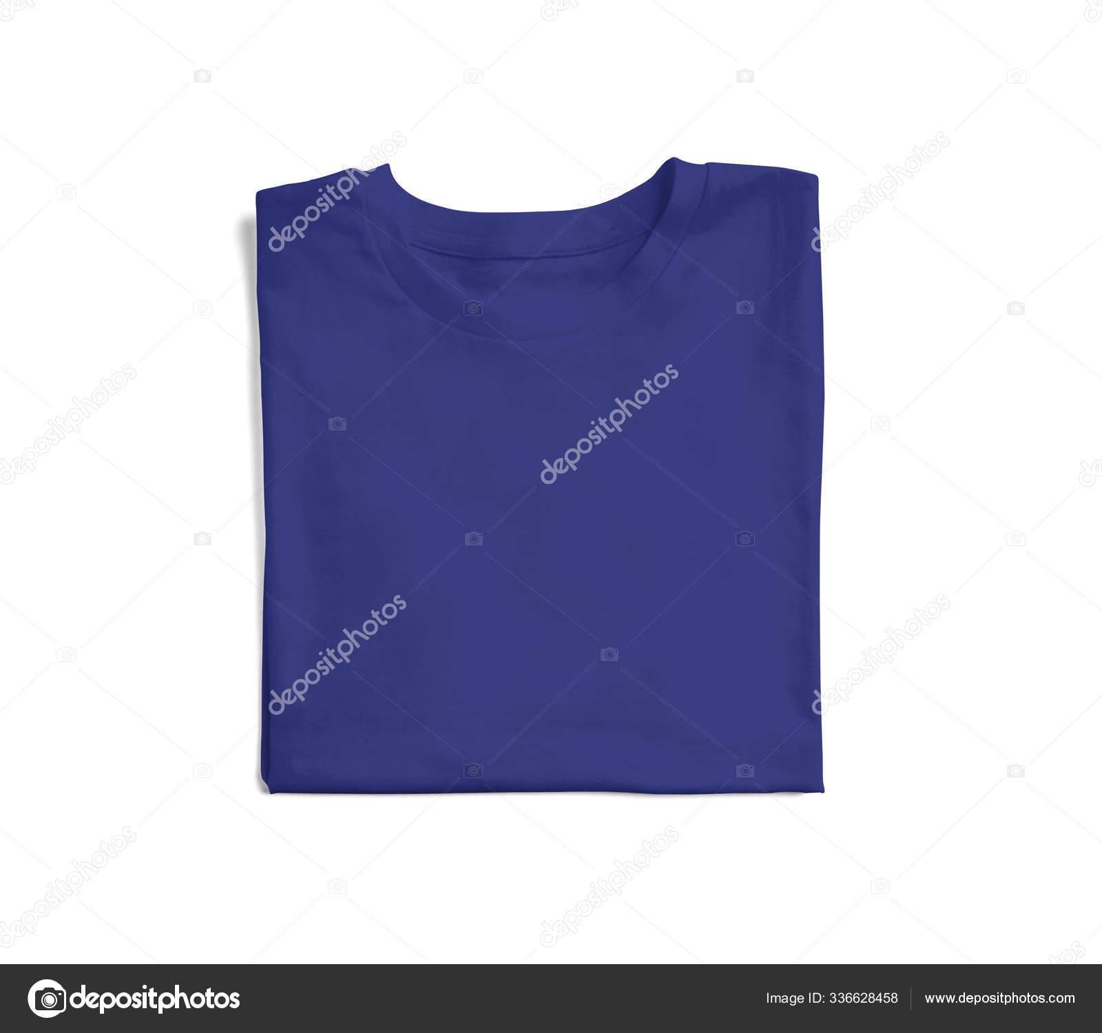 Folded Tshirt Mockup Royal Blue Color Made Make Your Logo Stock