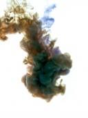 Barvy vhozeni do kapaliny a fotografoval v pohybu. Clo