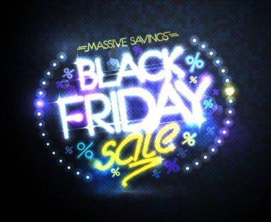 Black friday sale, massive savings poster design concept