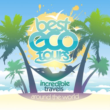 Best eco tours around the world poster concept