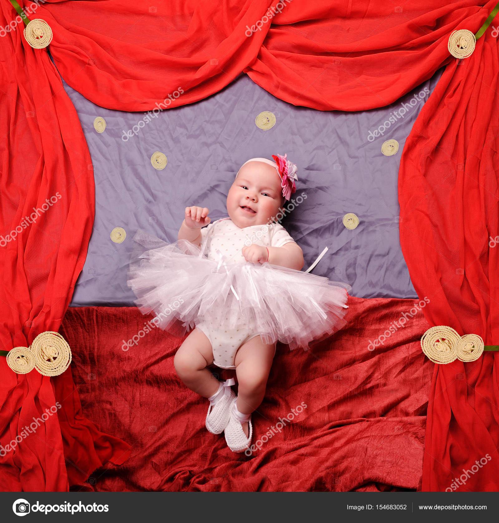 Neonata Infantile Indossa Bianco Ballerina Tutu E Scarpette All