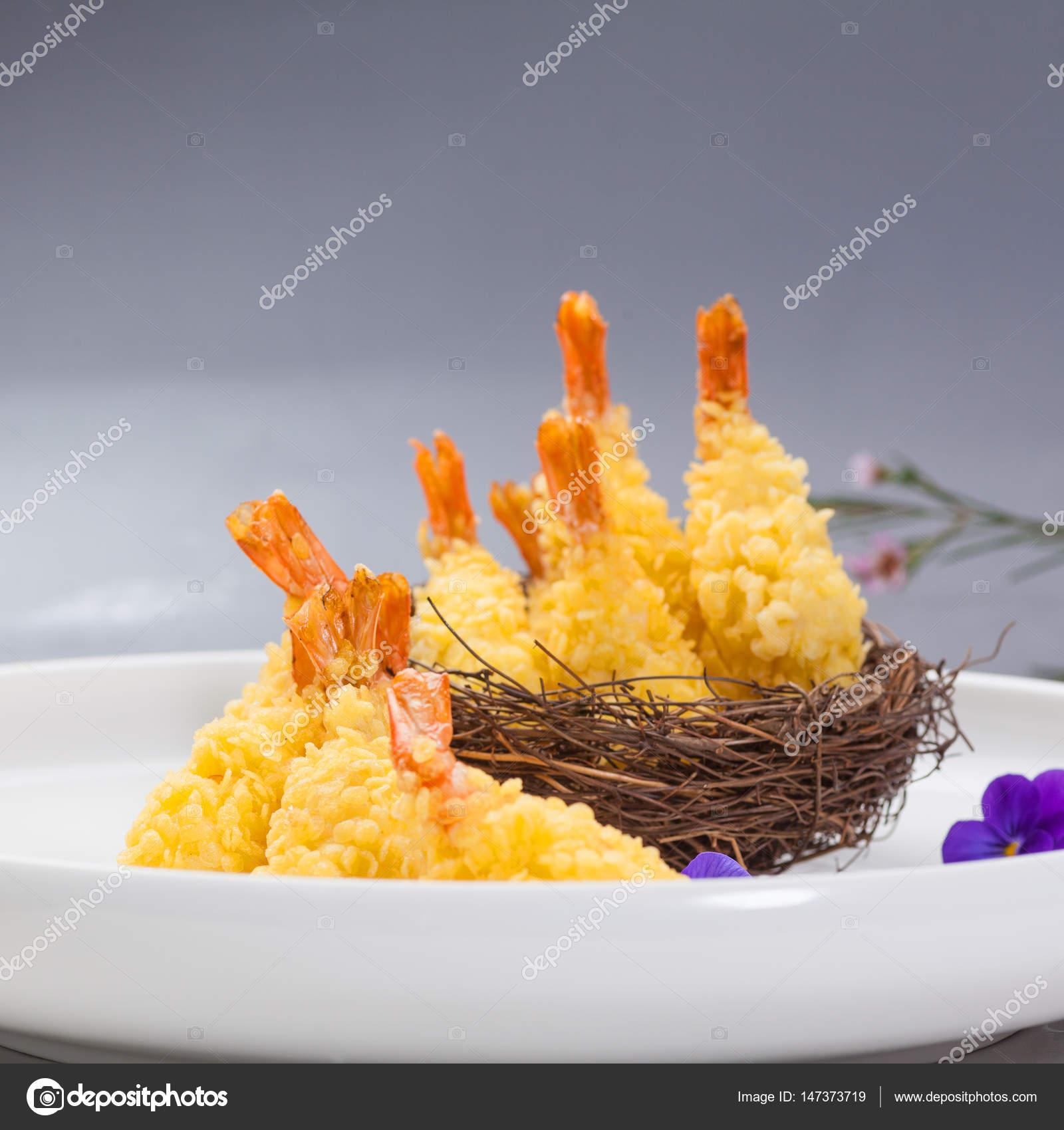 Chinese cuisine fried shrimp — Stock Photo © wangsong ...