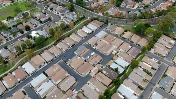 Légi felvétel a nagyméretű lakóövezetekről, Irvine, Kalifornia