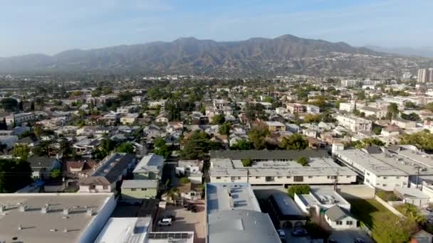Légi kilátás Glendale belvárosában, város Los Angeles