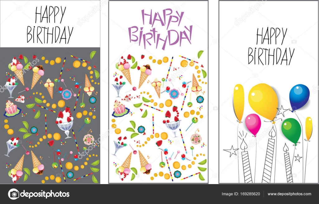 Artistic cards birthday vector design for poster card vector illustration of artistic cards birthday vector design for poster card invitation placard lettering happy birthday vector by filitova stopboris Gallery