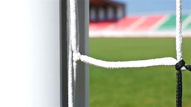Detail shot fotbal fotbal dveří netto