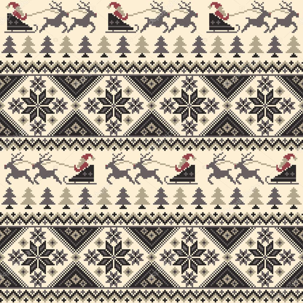 Patrón de tradición nórdica — Vector de stock © daicokuebisu #127943914