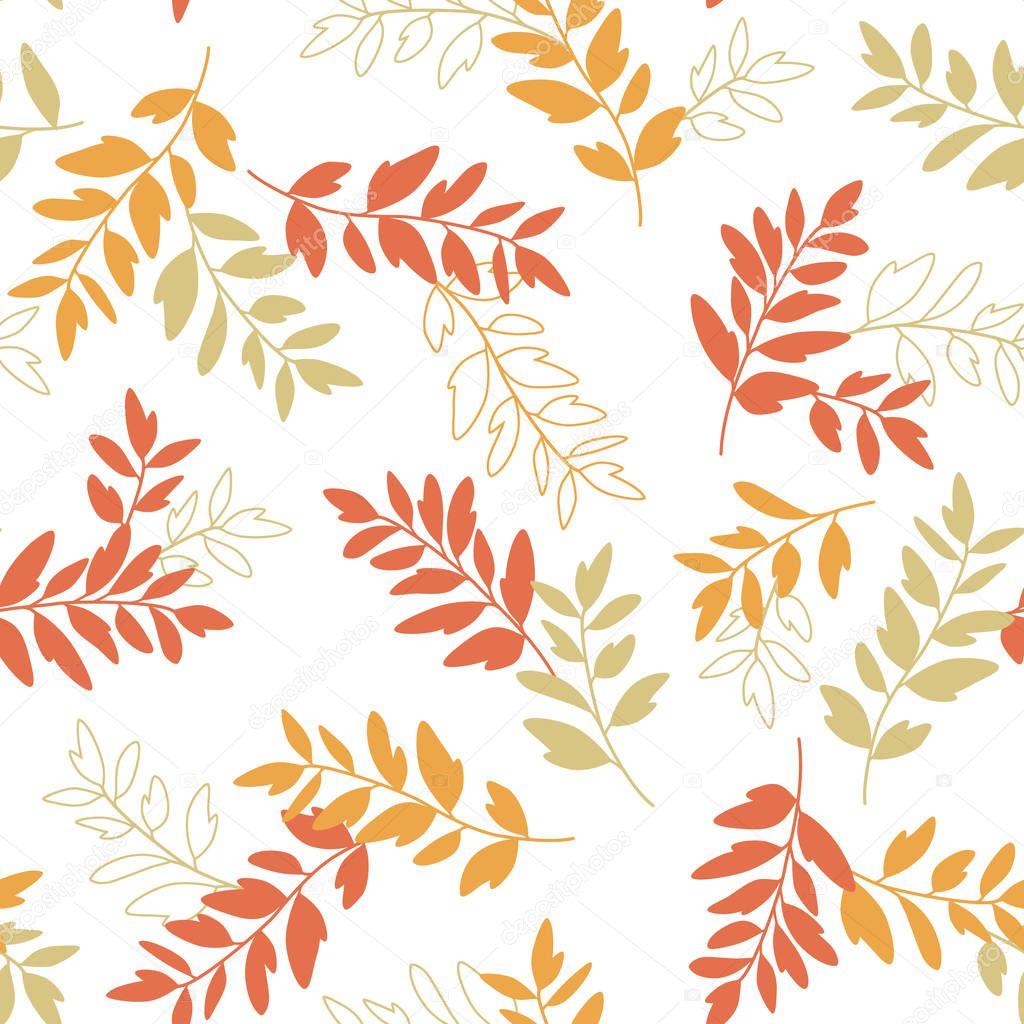 Leaf illustration pattern