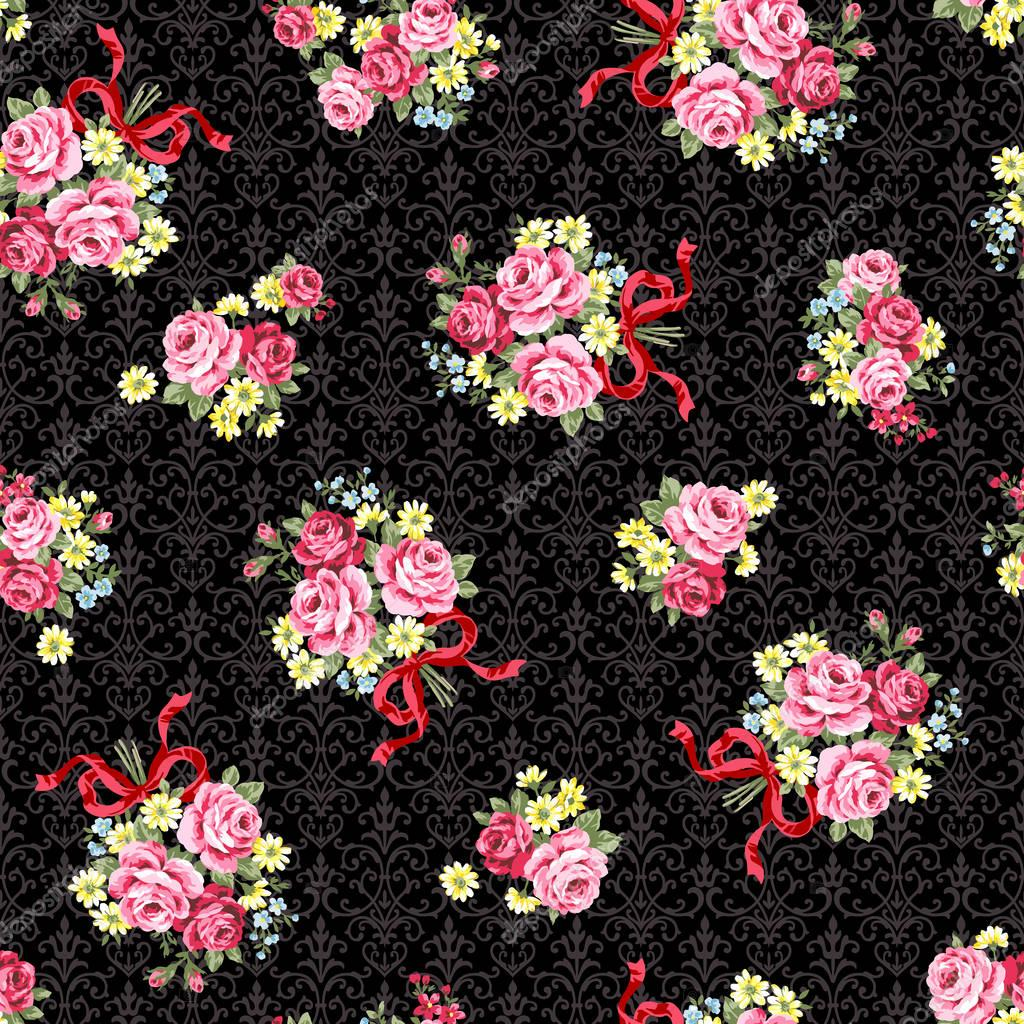 Rose illustration pattern