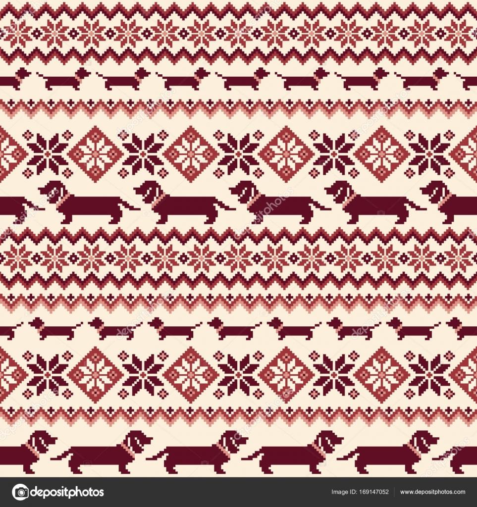 Ilustración de perro patrón nórdico — Vector de stock © daicokuebisu ...