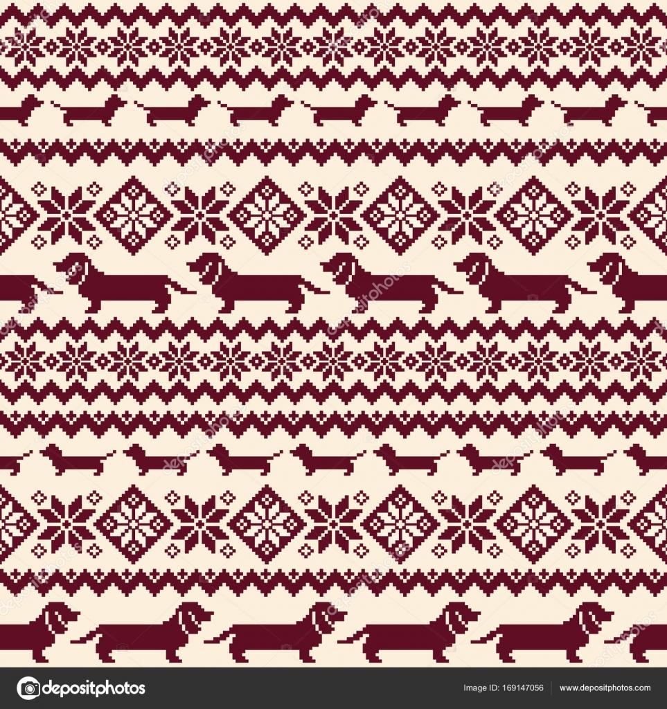 Ilustración de perro patrón nórdico — Archivo Imágenes Vectoriales ...