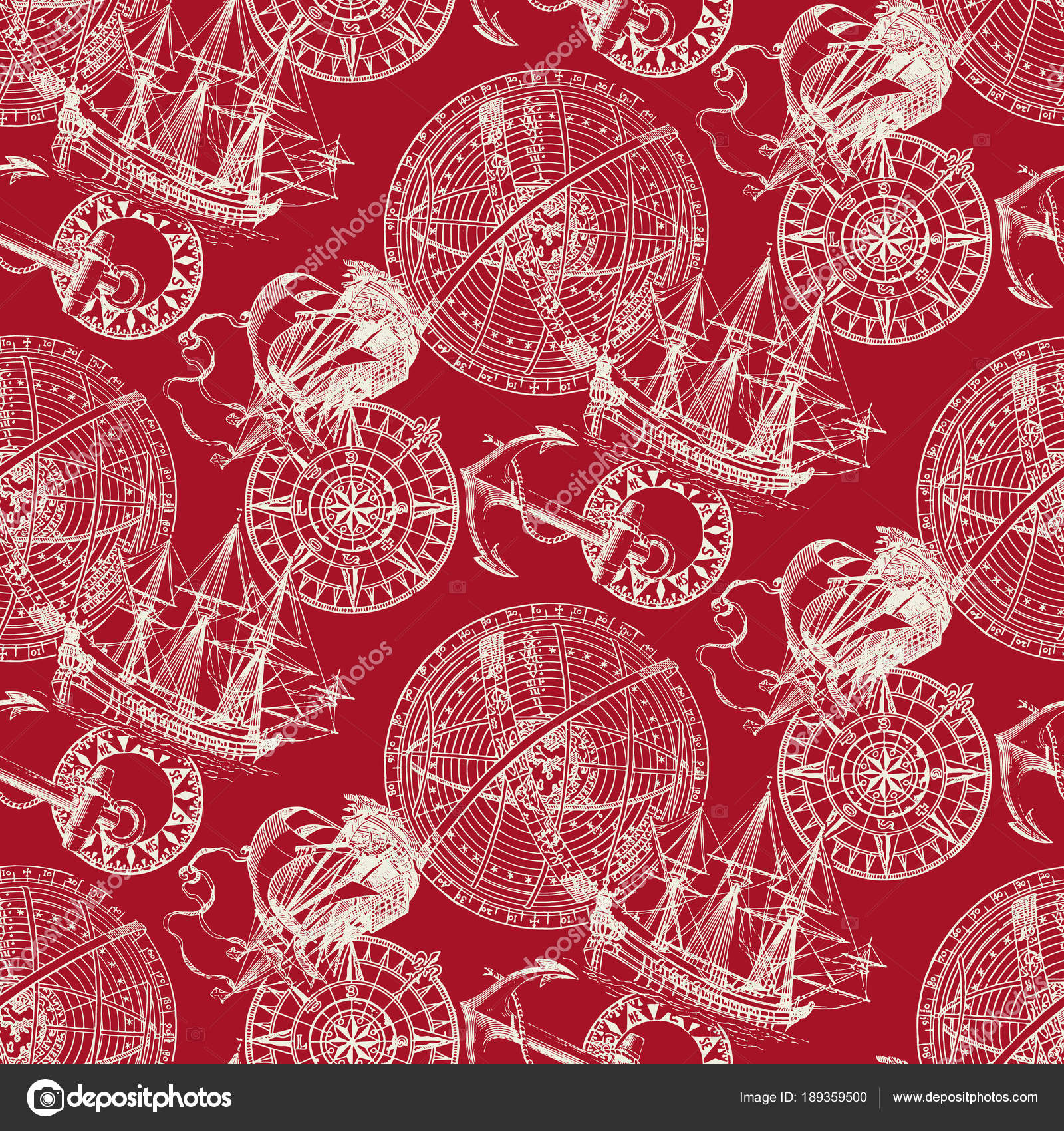 Sailing Boat Image Pattern Made Pattern Image Sailing Boat — Stock