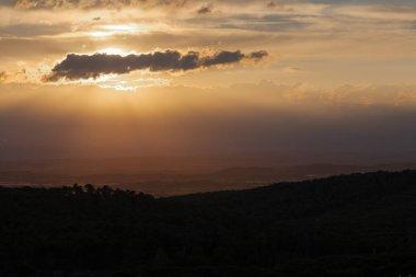 landscape of the sky in Begur at sunset