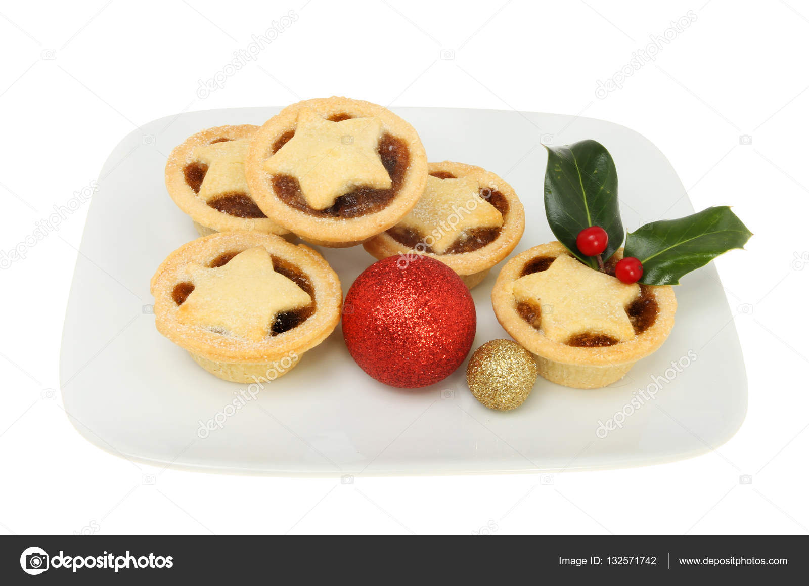 Mince pies on a plate with decorations u2014 Stock Photo  sc 1 st  Depositphotos & Mince pies on a plate with decorations u2014 Stock Photo © griffin024 ...