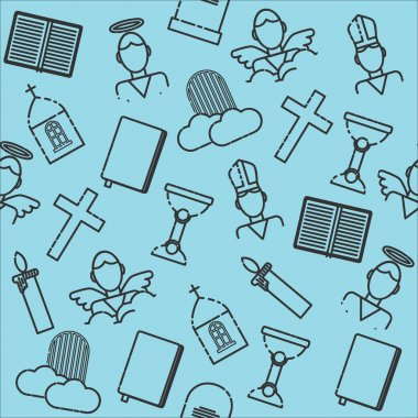 Christianity icons pattern
