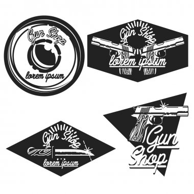 Vintage guns shop emblems